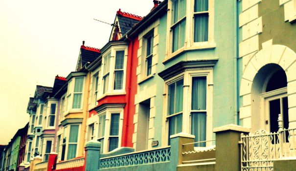 Coloured Houses by SammylovesCookies