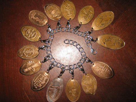 Smooshed Penny Charm Bracelet by Moongleam