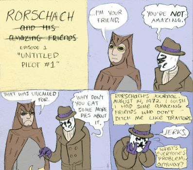 Rorschach And His...uh... by DrPlague