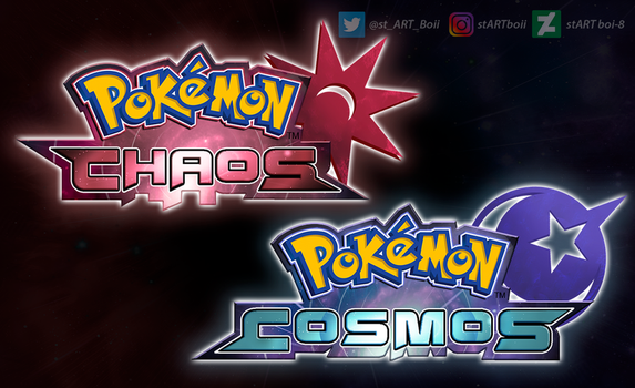 Pokemon Chaos and Cosmos by stARTboi-8