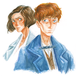 Tina and Newt by SpeakLike-a-Child