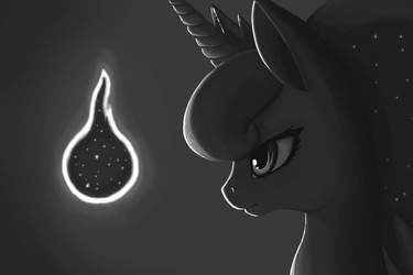 Luna and the Tantabus (without colors) by Arkwys
