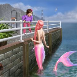 Adora and the Pink Mermaid by dashinvaine