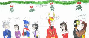 Christmas gift: Mistletoe party by Guadisaves02