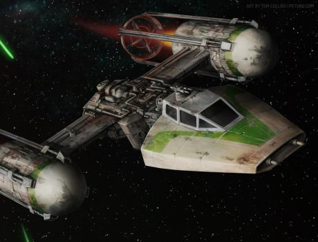 Y-wing detail by Pyrosity