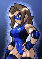 masked wrestler Susan by rongs1234