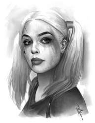 Harley Quinn study by WarrenLouw