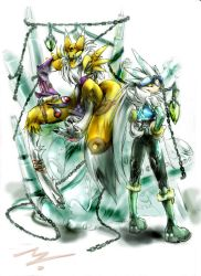 Renamon and Silver.:my style:. by Zummeng