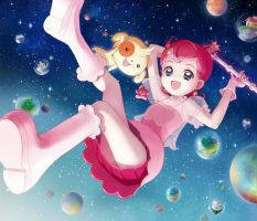 Cosmic Baton Girl Comet san by moai87