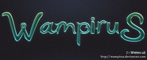 Cool Glass Text Effect by WampiruS