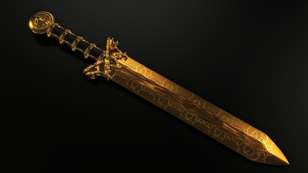 Dwarven Dagger - Dague Dwemer - Fan art TES by Etrelley