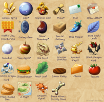 Some Quest Items by princess-phoenix