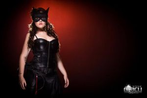 Signed Cat Woman Cosplay Print by DYENBOfficial