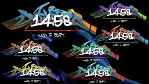 Graffiti Dock Clock for xwidget by Jimking
