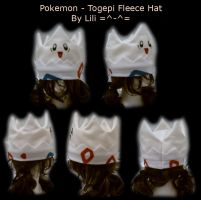 Togepi Fleece Hat by LiliNeko