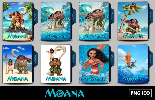 Moana (2016) Folder Icons by OnlyStyleMatters