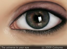 The universe in your eye by Calaymo