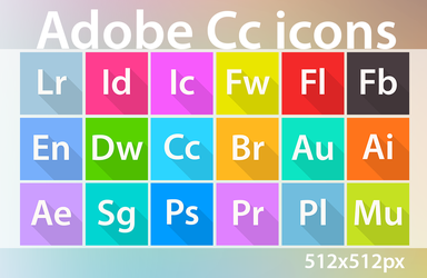 All Adobe Cc/CS6 icons :: 512x512px PNG by wineass