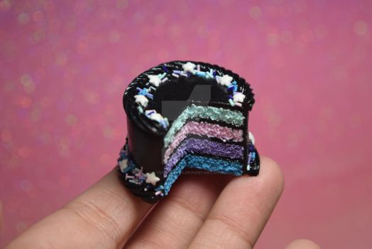 Pastel Galaxy Cake by lyssacrafts