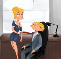 HA Challenge 8: Flirt at work by silsy