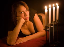 Ulrike by Candlelight by ChristophGerlach