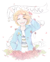Yoosung the Best Sung Doodle by Thekittylover100