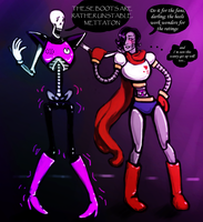 scantily clad robots and wobbly skeletons by Fel-Fisk