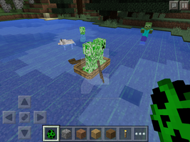 Creeper boat riding by TheFloweyfanclub
