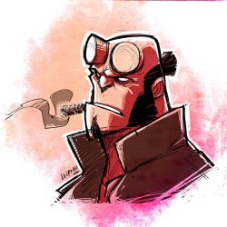 Hellboy Sketch by DerekLaufman