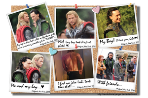 Thor and Loki Noticeboard by RevolutionaryAngel