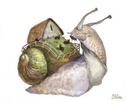 Snail-ship by katya-gudkina