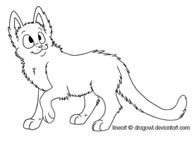 Free Cat Lineart by Dragowl
