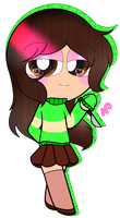 ~Me cosplaying Chara with my version of clothes by Nini-the-inkling