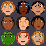 Animated heroines - face detail (6/6) by aquaninikochan