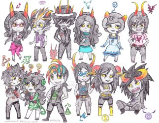 Chinese Calender FanTrolls colored by Suemoons