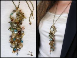 Treasures of the fall pendant by JuliaKotreJewelry