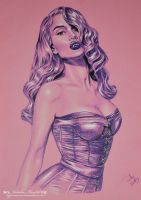 Pin-up gothic vamp by HypnoticRose