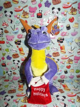 (StD)Holiday Spyro Plush (Front) by KrazyKari