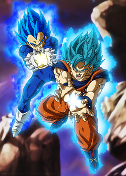 Final Kamehameha - Goku and Vegeta Ultra Blue by SenniN-GL-54