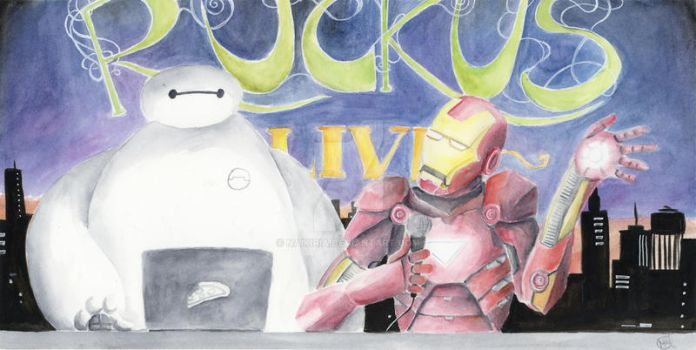 Iron Man and Baymax by Naikiria