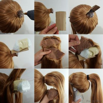Wig hack #6: Ponytail Volume by Pisaracosplay