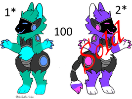 Protogen adoptables (BOTH SOLD) by Chibi-Butler-Snake