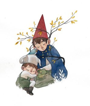 Over the garden wall by Rozenng