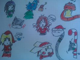 some xmas doddles D8 1pg by xChocoBearx3
