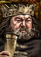 Game Of Thrones Robert Baratheon Mark Addy By Yue  by masteryue