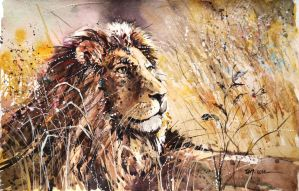 Speed Painting - King of the Jungle by Abstractmusiq