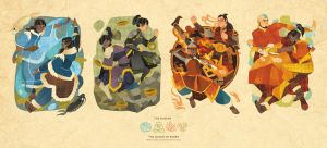 Korra and old friends with bending by freestarisis