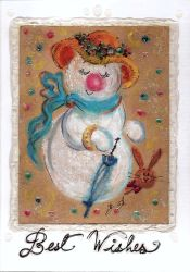Holiday Card Project 2018: Lovely Snowgirl by acla13