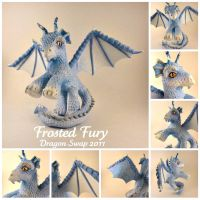 Frosted Fury - dragon swap pony by hannaliten
