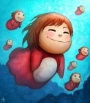 Swimming with the fishes by Ry-Spirit